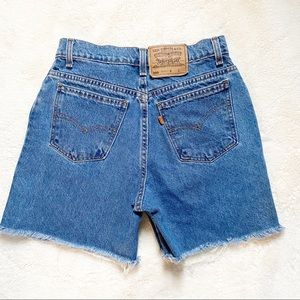 Vintage Levi's 950 Orange Tab 90's Denim Shorts